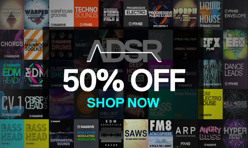 Thank you! 50% Off All ADSR Products For 48 Hours