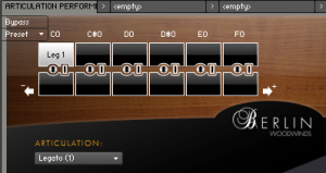 Using the Berlin Woodwinds Articulations Performer in Kontakt - ADSR